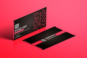 Hot pink business card design