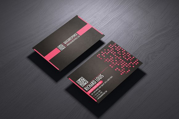 Hot pink business card design business card templates creative hot pink business card design business card templates creative market colourmoves