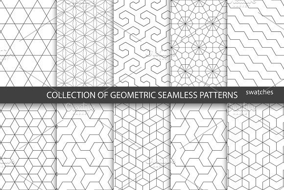 Ornamental Geometric Patterns Graphic Patterns Creative Market Mesmerizing Geometric Pattern