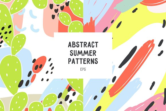 Hand Drawn Abstract Summer Patterns
