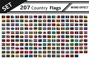 set 207 country flag wind