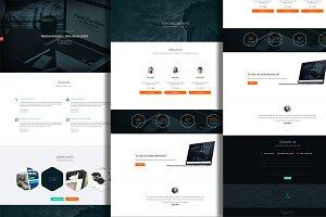 One page minimalist PSD theme
