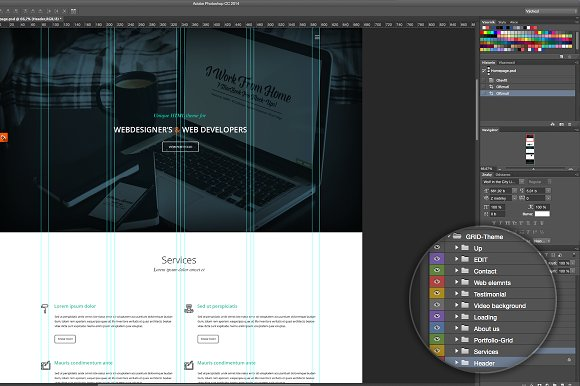 One page minimalist PSD theme in Landing Page Templates - product preview 3