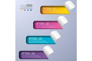 Modern paper infographics