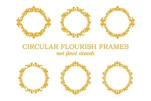 Circular Flourish Frames