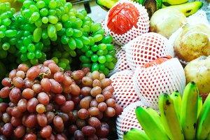 Thailand street fruit market