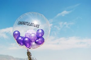 big balloon congratulations