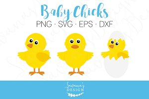 Baby Chicks - PNG, SVG, EPS, DXF