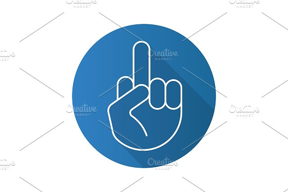 Middle Finger Up Icon Vector