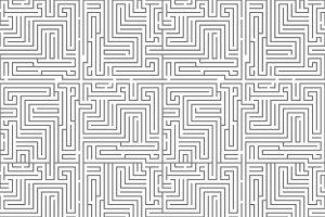 Intricacy labyrinth maze