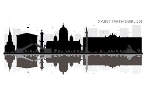 Saint Petersburg City skyline