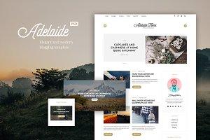 Adelaida Blogging PSD Template