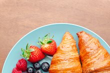 Fresh ripe berries and pastries