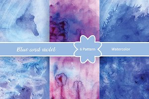 №241 Blue and violet watercolor