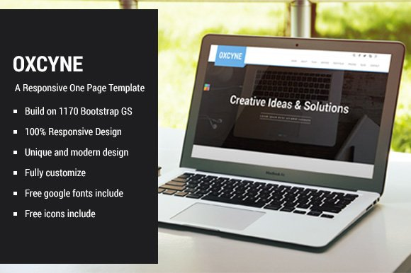 Oxcyne One Page HTML Theme