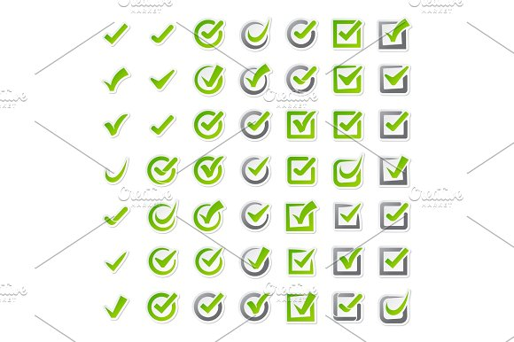 Check Box Icons Of Vote Mark Sign Choice Yes Symbol And Correct Design Right Agreement Voting Form Button Question Choose Success Graphic Vector Illustration