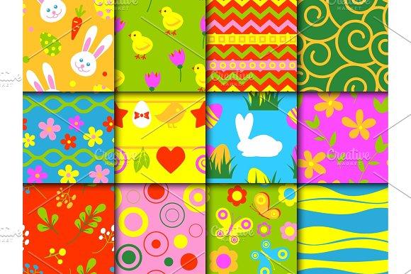 Easter Seamless Pattern Background Retro Vintage Design Vector