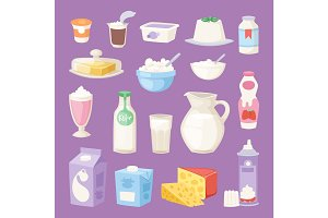 Milk everyday products vector
