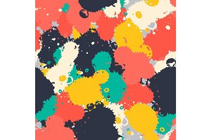 Art brush splash seamless pattern vector.