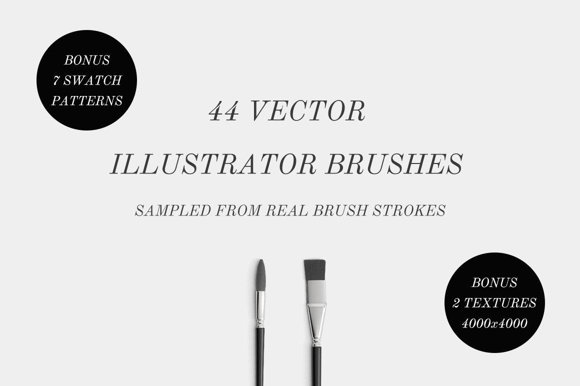 44 Vector Illustrator Brushes Brushes Creative Market