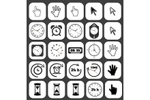 Icon set watch and cursor