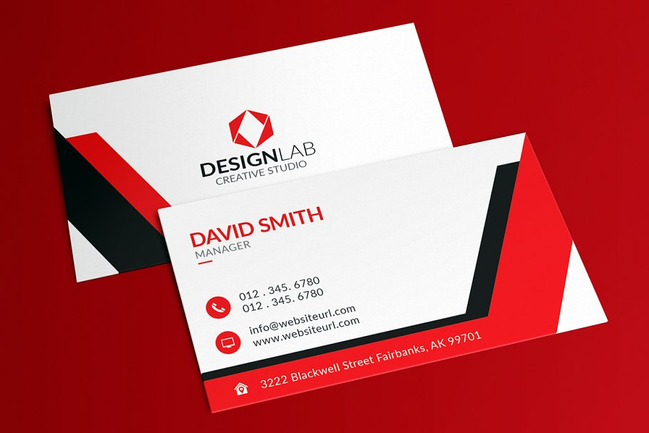 Creative modern business card business card templates creative next reheart Choice Image