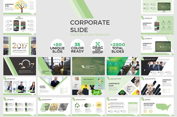 Corporate Slide Powerpoint Template