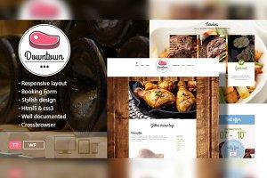 Downtown -Restaurant WordPress Theme