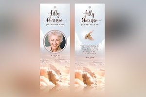 Heaven Memorial Bookmarker Template