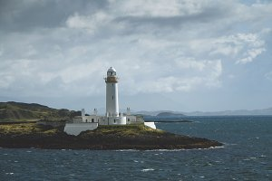 Lighthouse near Oban, Scotland