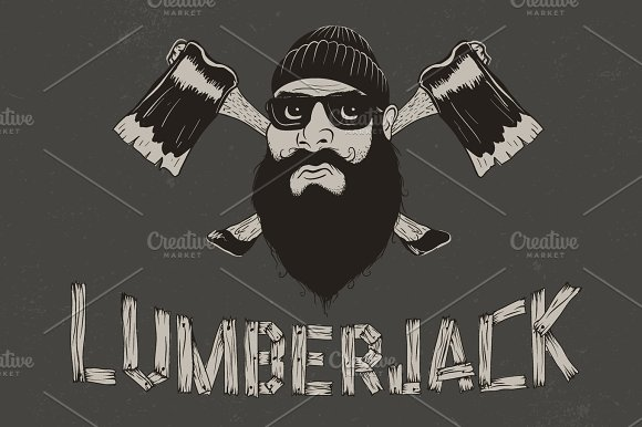 Lumberjack With Two Axes