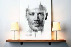 Blank canvas mockup 03