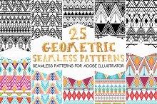 GeoMetric Aztec Seamless Patterns