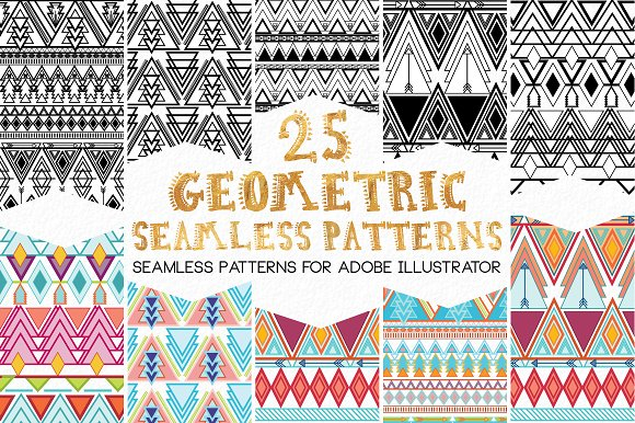 GeoMetric Aztec Seamless Pa-Graphicriver中文最全的素材分享平台