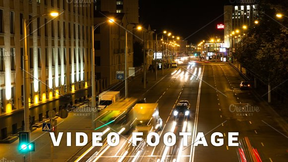Cars Traffic Road Zoom Out Time-lapse Shot