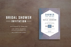 Geometric Bridal Shower Invitation