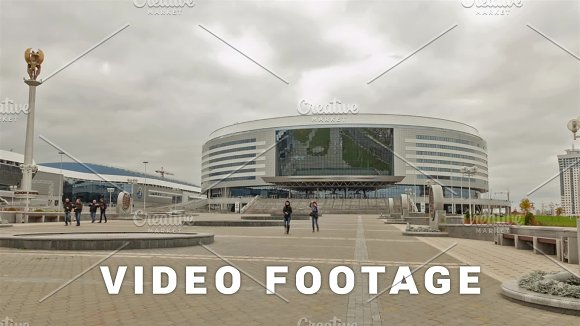 Sport Complex Minsk Arena Time Lapse Shot In Motion