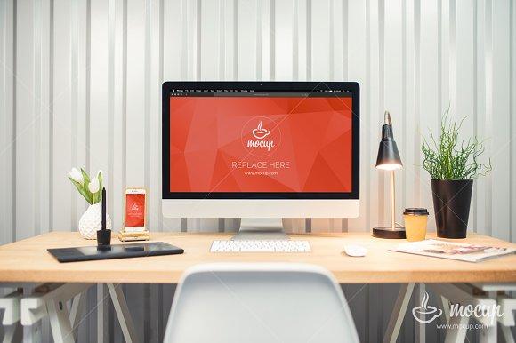 IMac IPhone Creative Workplace
