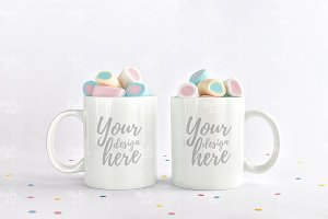Two mugs stock photography #6143
