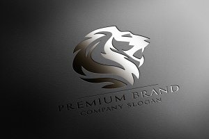 Premium Lion Logo & Mock-Up - Vector