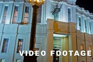 Minsk Opera Theatre. Time lapse shot in motion