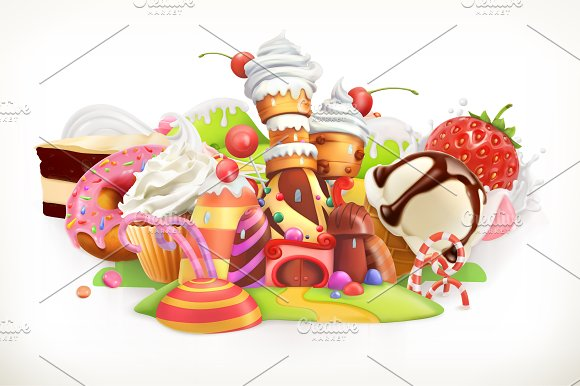 Confectionery And Desserts Vector
