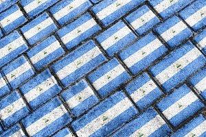 Nicaragua Flag Urban Grunge Pattern
