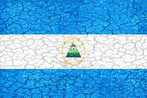 Nicaragua Flag Urban Grunge