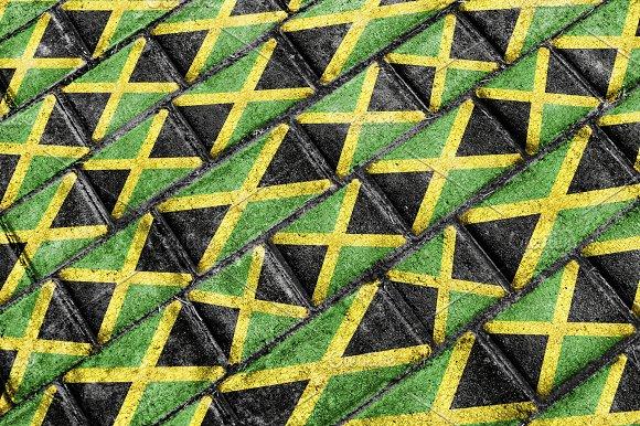Jamaica Flag Urban Grunge Pattern