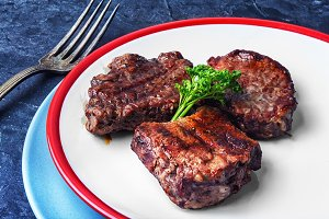 juicy veal steak