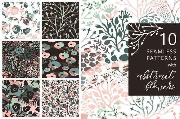10 Artistic Seamless Patterns