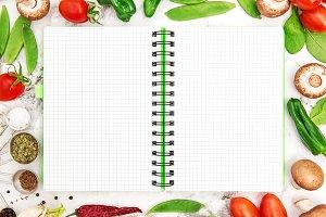recipe book fresh vegetables