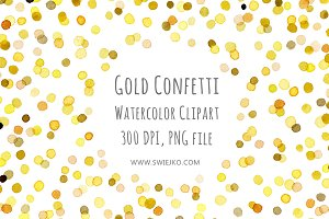Watercolor Frame, Confetti
