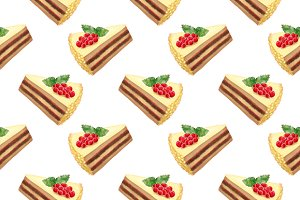 Sweet cake seamless pattern texture